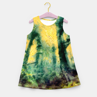 Thumbnail image of abstract misty forest painting hvhdtop Girl's summer dress, Live Heroes