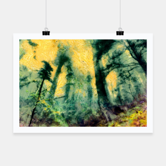 Thumbnail image of abstract misty forest painting hvhdtop Poster, Live Heroes