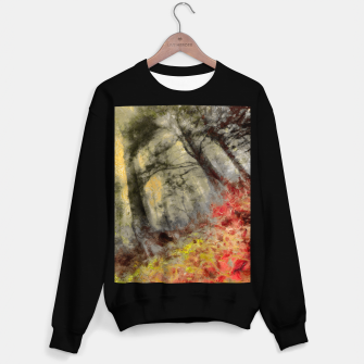 abstract misty forest painting hvhd hfsepia Sweater regular thumbnail image