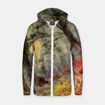 abstract misty forest painting hvhd hfsepia Zip up hoodie thumbnail image