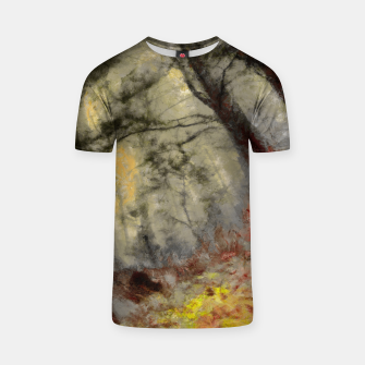 abstract misty forest painting hvhd hfsepia T-shirt thumbnail image