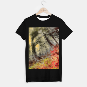 abstract misty forest painting hvhd hfsepia T-shirt regular thumbnail image