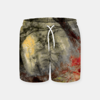 abstract misty forest painting hvhd hfsepia Swim Shorts thumbnail image