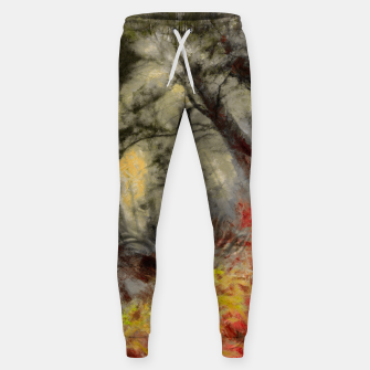 abstract misty forest painting hvhd hfsepia Sweatpants thumbnail image