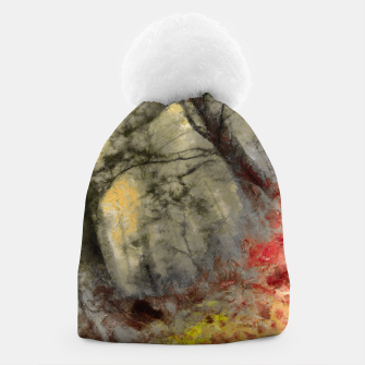 abstract misty forest painting hvhd hfsepia Beanie thumbnail image