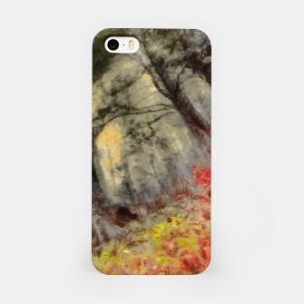 Miniature de image de abstract misty forest painting hvhd hfsepia iPhone Case, Live Heroes