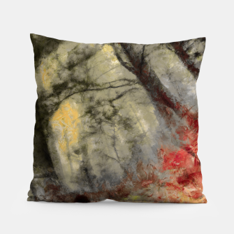 abstract misty forest painting hvhd hfsepia Pillow thumbnail image