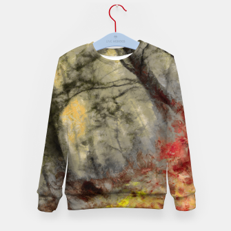 abstract misty forest painting hvhd hfsepia Kid's sweater thumbnail image