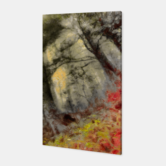 abstract misty forest painting hvhd hfsepia Canvas thumbnail image