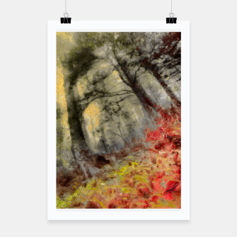 Thumbnail image of abstract misty forest painting hvhd hfsepia Poster, Live Heroes