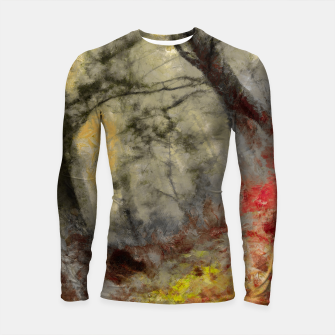 abstract misty forest painting hvhd hfsepia Longsleeve rashguard  thumbnail image