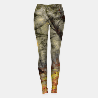 abstract misty forest painting hvhd hfsepia Leggings thumbnail image