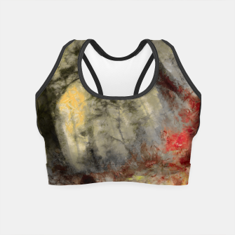 abstract misty forest painting hvhd hfsepia Crop Top thumbnail image