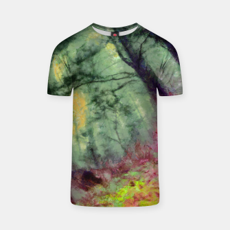 Thumbnail image of abstract misty forest painting hvhd hfstd T-shirt, Live Heroes