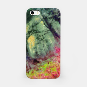 Miniature de image de abstract misty forest painting hvhd hfstd iPhone Case, Live Heroes