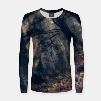 Thumbnail image of abstract misty forest painting hvhd hfall Women sweater, Live Heroes
