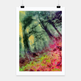 Thumbnail image of abstract misty forest painting hvhd hfstd Poster, Live Heroes