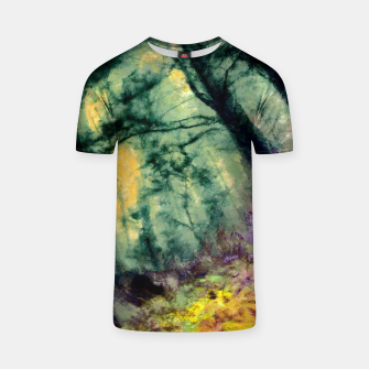 Thumbnail image of abstract misty forest painting hvhd hftop T-shirt, Live Heroes