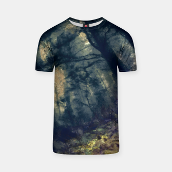 Thumbnail image of abstract misty forest painting hvhd hffn T-shirt, Live Heroes