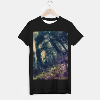 Thumbnail image of abstract misty forest painting hvhd hffn T-shirt regular, Live Heroes