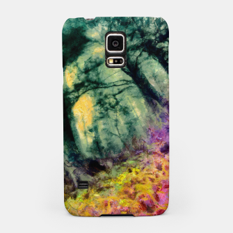 Thumbnail image of abstract misty forest painting hvhd hftop Samsung Case, Live Heroes