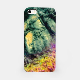 Thumbnail image of abstract misty forest painting hvhd hftop iPhone Case, Live Heroes