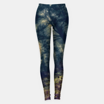 Thumbnail image of abstract misty forest painting hvhd hffn Leggings, Live Heroes