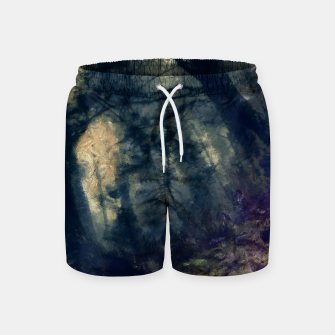Thumbnail image of abstract misty forest painting hvhd hffn Swim Shorts, Live Heroes