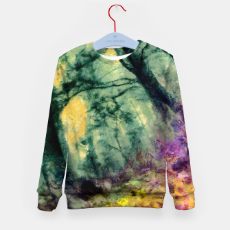 Thumbnail image of abstract misty forest painting hvhd hftop Kid's sweater, Live Heroes
