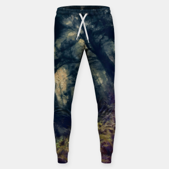 Thumbnail image of abstract misty forest painting hvhd hffn Sweatpants, Live Heroes
