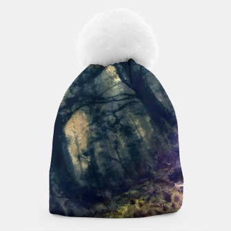 Thumbnail image of abstract misty forest painting hvhd hffn Beanie, Live Heroes
