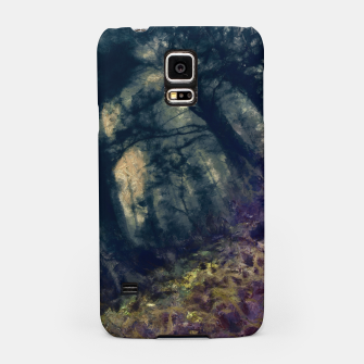 Thumbnail image of abstract misty forest painting hvhd hffn Samsung Case, Live Heroes