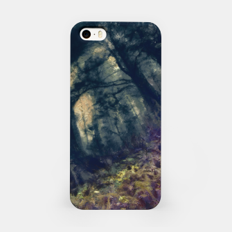 Thumbnail image of abstract misty forest painting hvhd hffn iPhone Case, Live Heroes