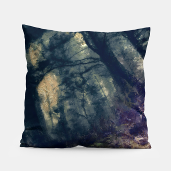 Thumbnail image of abstract misty forest painting hvhd hffn Pillow, Live Heroes
