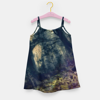 Thumbnail image of abstract misty forest painting hvhd hffn Girl's dress, Live Heroes