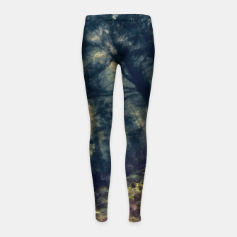 Thumbnail image of abstract misty forest painting hvhd hffn Girl's leggings, Live Heroes