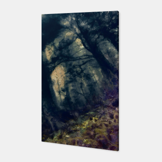 Thumbnail image of abstract misty forest painting hvhd hffn Canvas, Live Heroes