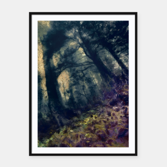 Thumbnail image of abstract misty forest painting hvhd hffn Framed poster, Live Heroes