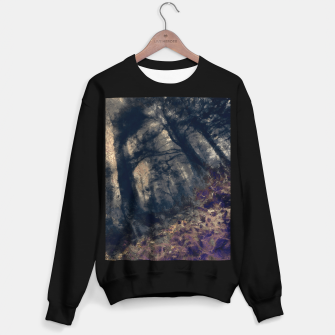 Thumbnail image of abstract misty forest painting hvhd hfall Sweater regular, Live Heroes