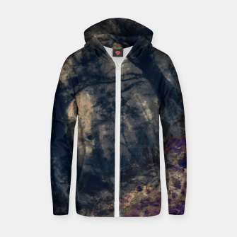 Thumbnail image of abstract misty forest painting hvhd hfall Zip up hoodie, Live Heroes
