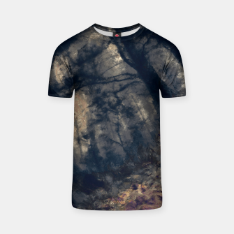 Thumbnail image of abstract misty forest painting hvhd hfall T-shirt, Live Heroes