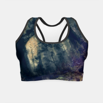 Thumbnail image of abstract misty forest painting hvhd hffn Crop Top, Live Heroes