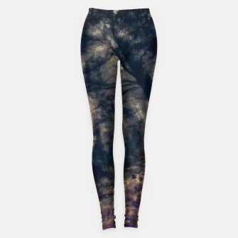 Thumbnail image of abstract misty forest painting hvhd hfall Leggings, Live Heroes