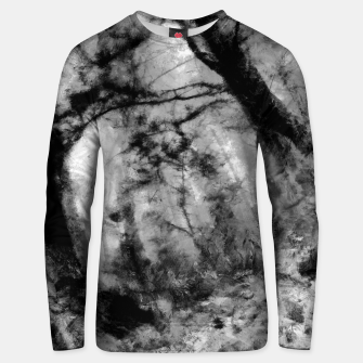 Thumbnail image of abstract misty forest painting hvhd hfbw Unisex sweater, Live Heroes