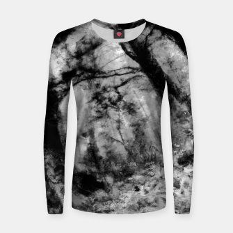 Thumbnail image of abstract misty forest painting hvhd hfbw Women sweater, Live Heroes