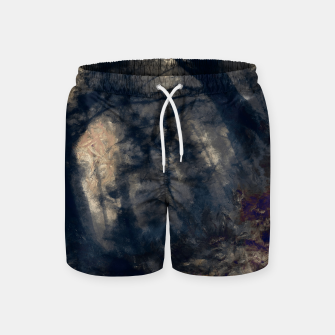 Thumbnail image of abstract misty forest painting hvhd hfall Swim Shorts, Live Heroes