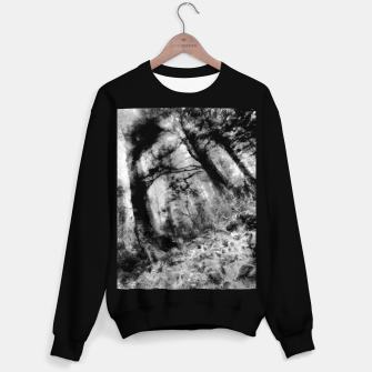 Thumbnail image of abstract misty forest painting hvhd hfbw Sweater regular, Live Heroes