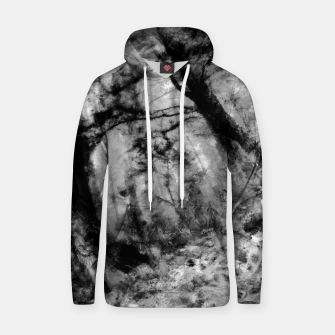 Thumbnail image of abstract misty forest painting hvhd hfbw Hoodie, Live Heroes