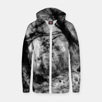 Thumbnail image of abstract misty forest painting hvhd hfbw Zip up hoodie, Live Heroes