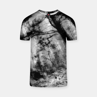 Thumbnail image of abstract misty forest painting hvhd hfbw T-shirt, Live Heroes